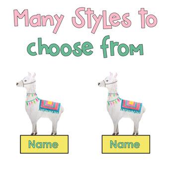 Llama Name Tags