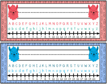 Llama Classroom Decor: Nameplates