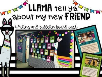 Llama New Friend Writing