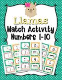 Llama Number Match Activity
