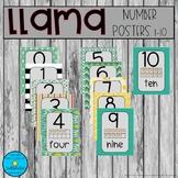 Llama Numbers 1-10 Posters