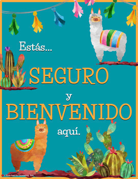 Llama Theme: Office Counseling Posters - Available in Spanish