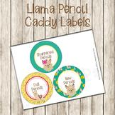 Llama Pencil Caddy Labels