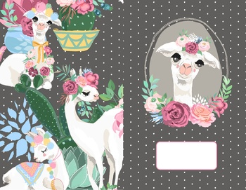 Llama Planner Cover and Monthly Pages