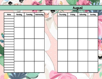 Llama Planner Notes and Weekly Pages