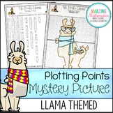 Llama Plotting Points - Coordinate Graphing Mystery Picture
