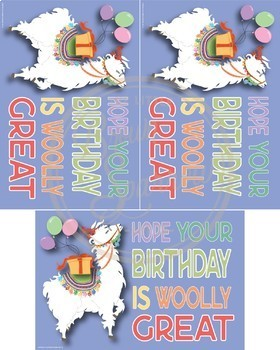 Llama Postcards {for Birthday, Back to School, Parent Communication}