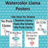 Llama Poster Pack Watercolor