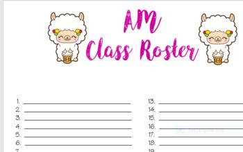 Llama Preschool Lesson Planner
