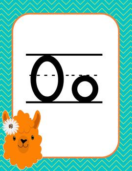Llama Classroom Theme Primary Alphabet Posters