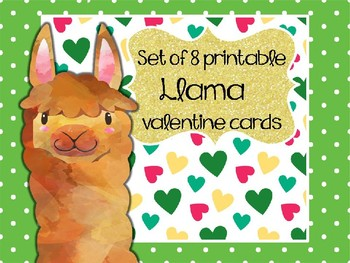 photograph regarding Llama Printable identified as Llama Printable Valentines.