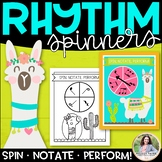 Llama Rhythm Spinners: Spin, Notate, Perform! {Color and I