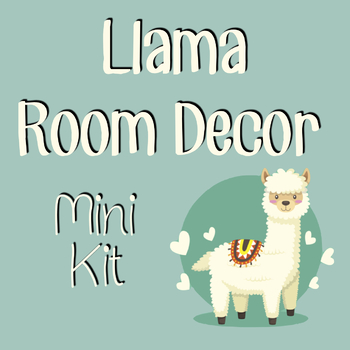 Llama Room Decor Mini Kit