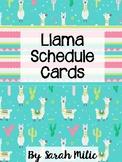 Llama Schedule Cards