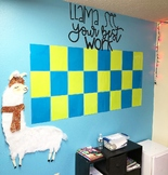 Llama See Your Best Work | Bulletin Board Letters