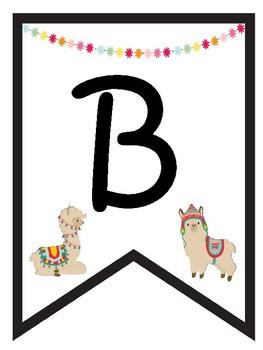 Llama classroom  decor spanish  Bienvenidos banner