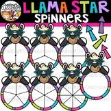 Llama Star Spinners Clipart {Llama Clipart}