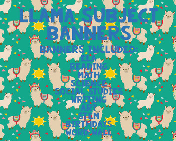 Llama Subject Banners