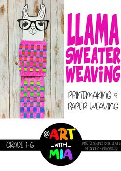 Llama Sweater Weaving - Art Lesson