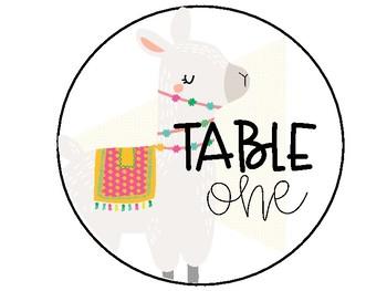 Llama Table Numbers