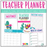 Llama Teacher Planner {Editable!}