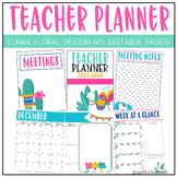 Llama Teacher Planner 2021-2022 | Editable