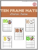 Llama Ten Frame Mats 1-20