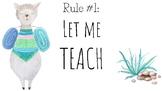 Llama Theme Classroom Rules