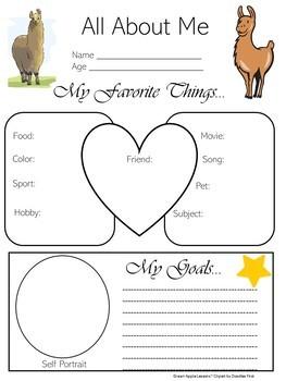Llama Theme | Llama Classroom Theme | All About Me