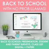 Llama-Themed Back to School Pack (Editable & Digital)