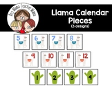 Llama Themed Calendar Pieces
