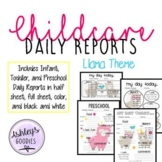 Llama Themed Childcare Daily Reports (Daycare)