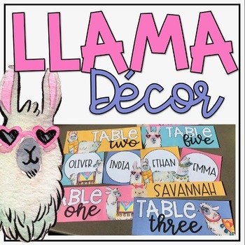 Llama Themed Classroom Decor Bundle + Editable Items!