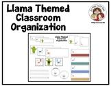 Llama Themed Classroom Organization