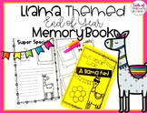 Llama Themed End of the Year Memory Book