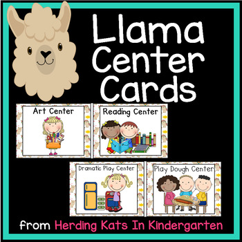 Llama Themed  Pocket Chart  Center Cards