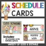 Llama Classroom Decor Schedule Cards