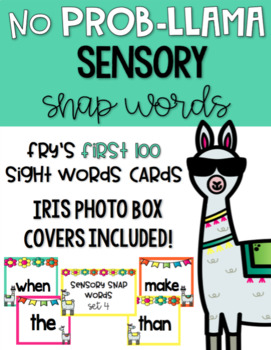 Llama-Themed Sensory Sight Word Practice