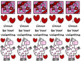 Llama Valentine Bookmark Set