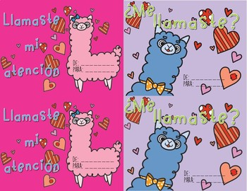 Llama Valentine S Day Cards Spanish By Bilingual Is Beautiful Tpt