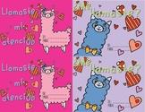 Llama Valentine's Day Cards SPANISH