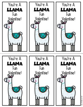 LLAMA Valentine's Day Cards for Teachers & Students! EASY to Print & FUN Give!