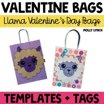 Llama Valentine's Day Treat Bags