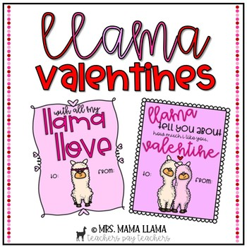 Llama Valentines Cards & Posters