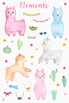 Llama Watercolor Clipart, PNG Images with Transparent Background
