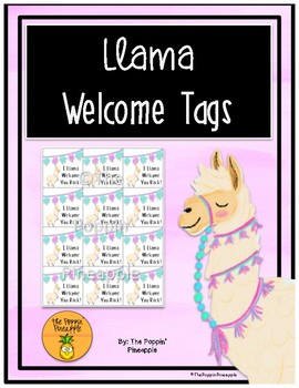 Llama Welcome Tags