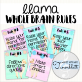 Llama Whole Brain Classroom Rules