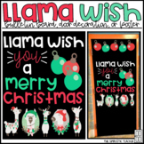 Llama Wish You a Merry Christmas Bulletin Board, Door Deco