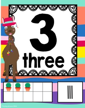 Llama and Alpaca Themed 0-20 Numbers Posters