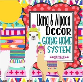 Llama and Alpaca Themed Going Home Display System *editable*